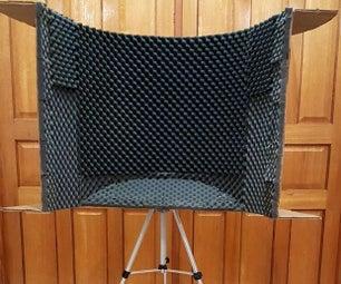 Tri-pot Recording Studio Microphone Isolation Shield