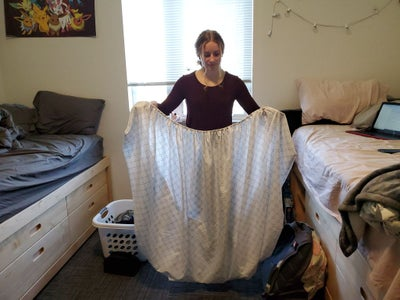Take Your Fitted Sheet and Turn It Inside Out.