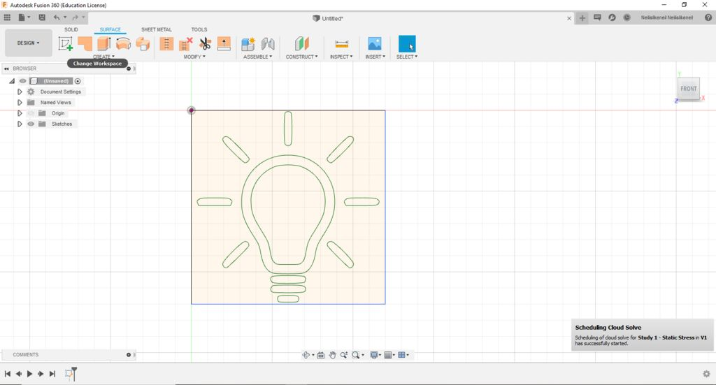 Picture of Importing Our Image Into Fusion 360
