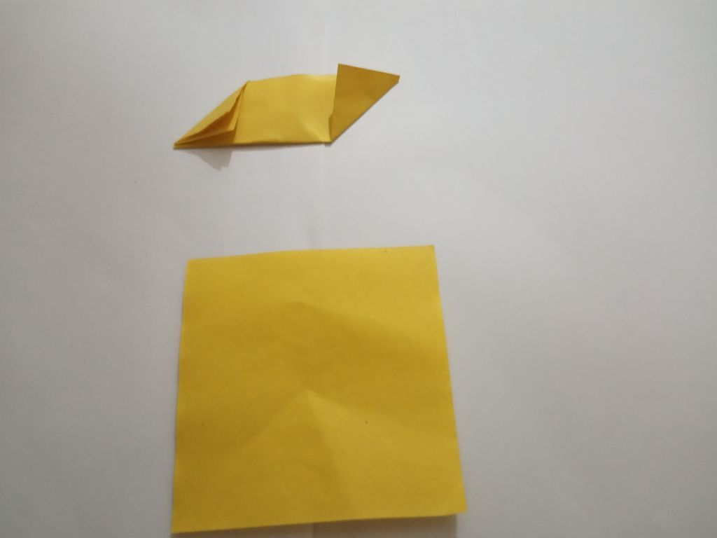 Picture of Now Fold the Two Corners of the Rectangle So As to Make a Parallelogram Shape.