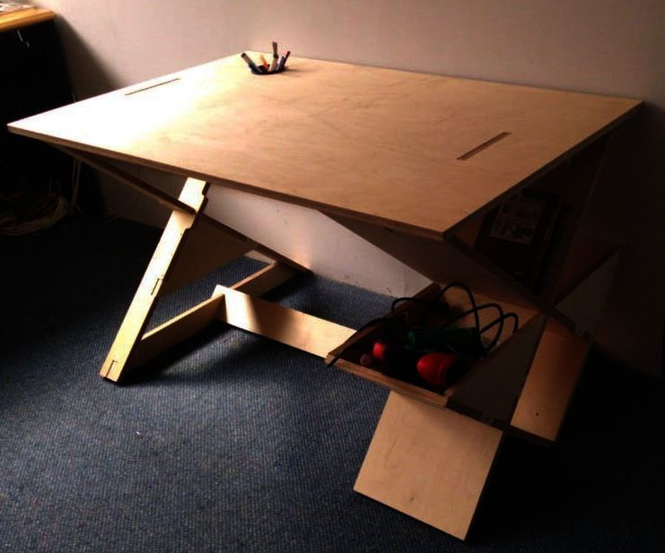 Birch Plywood Table