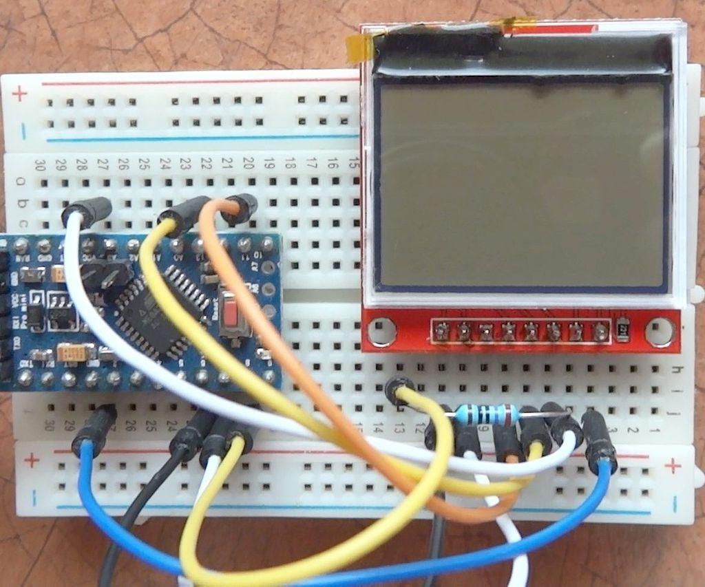 HX1230 Monochrome LCD in Arduino Projects