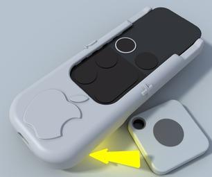 Apple TV Siri Remote Hard Case With Bluetooth Tile Finder