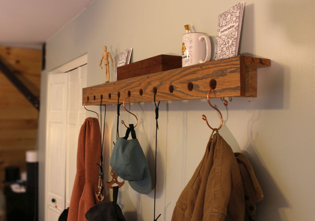 Picture of Hooked: DIY Wall Shelf With Hooks