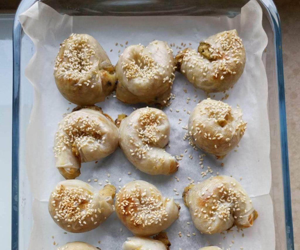 Potato and Mushrooms Burreka From Rice Paper