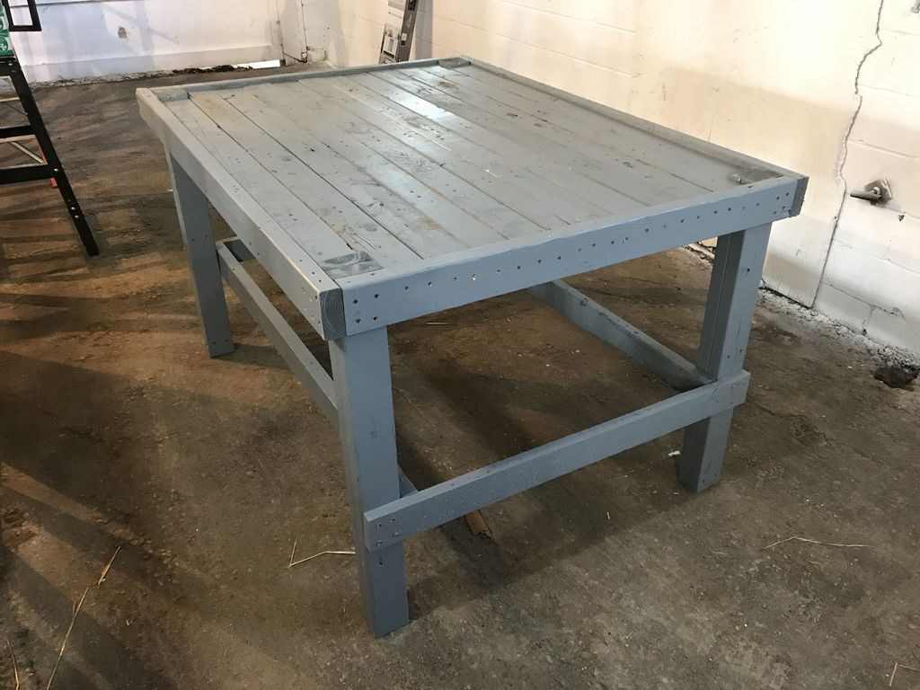 Enjoyable Building A Workbench Out Of Pallets 5 Steps With Pictures Machost Co Dining Chair Design Ideas Machostcouk