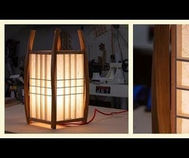 Twisted Bent Lamination Lamp
