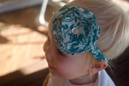 Easy Flower Headband for Little Girl