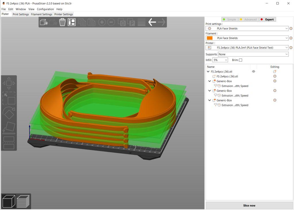 faceshield impressora 3d