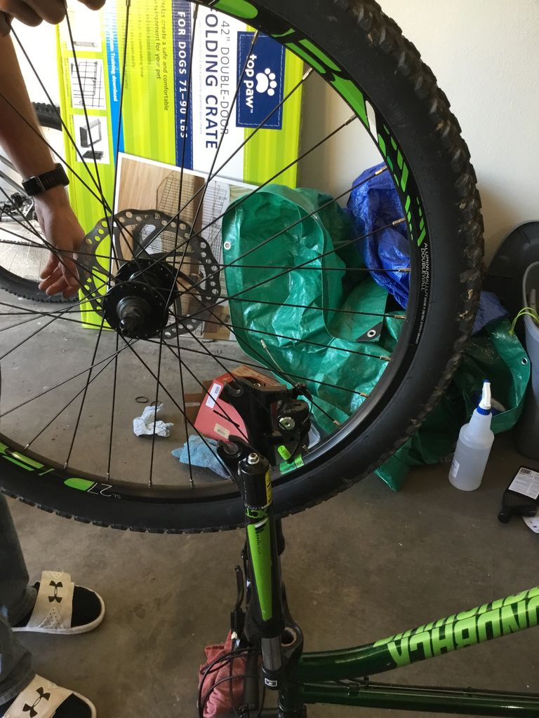 Picture of Remove Tire and Set to the Side