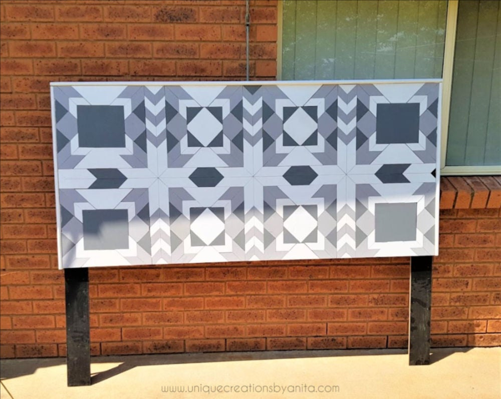 Picture of How to Make a Barn Quilt Headboard