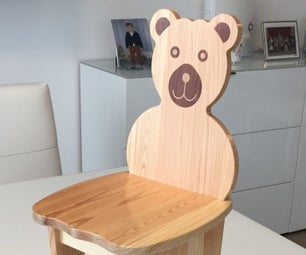 Bear - Wooden Kids Chair