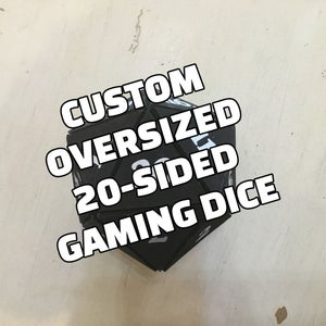 Custom Size 20-sided Dice
