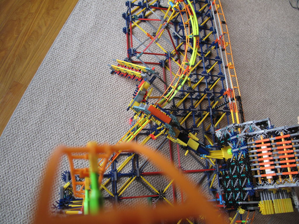 Picture of The Phoenix- a K'nex Roller Coaster