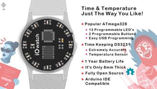 IO Watch (Arduino IDE Powered Wristwatch)