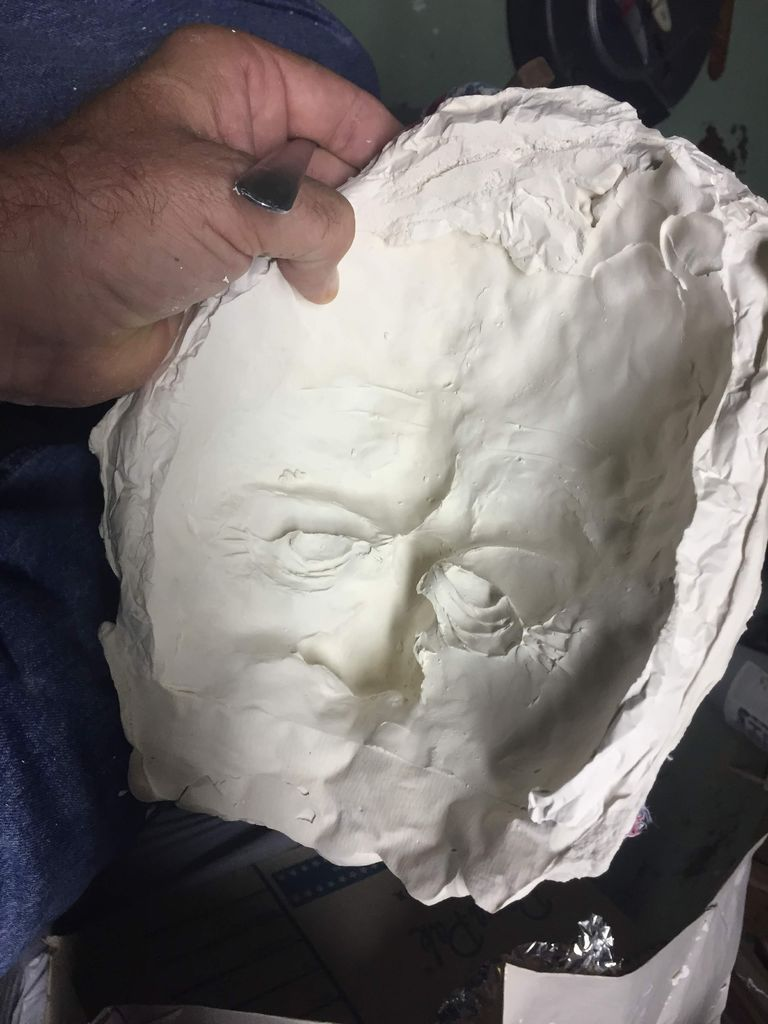 Picture of Step 2: Casting the Modeled Face With More Plaster