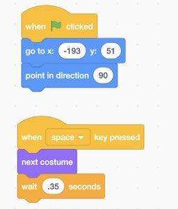 Code in Scratch