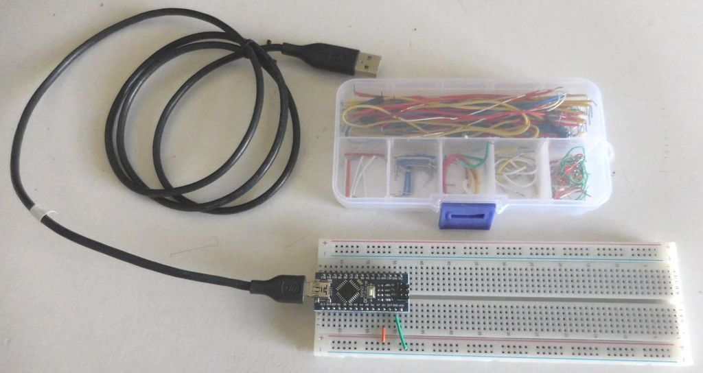 Add the Arduino Nano to the Breadboard