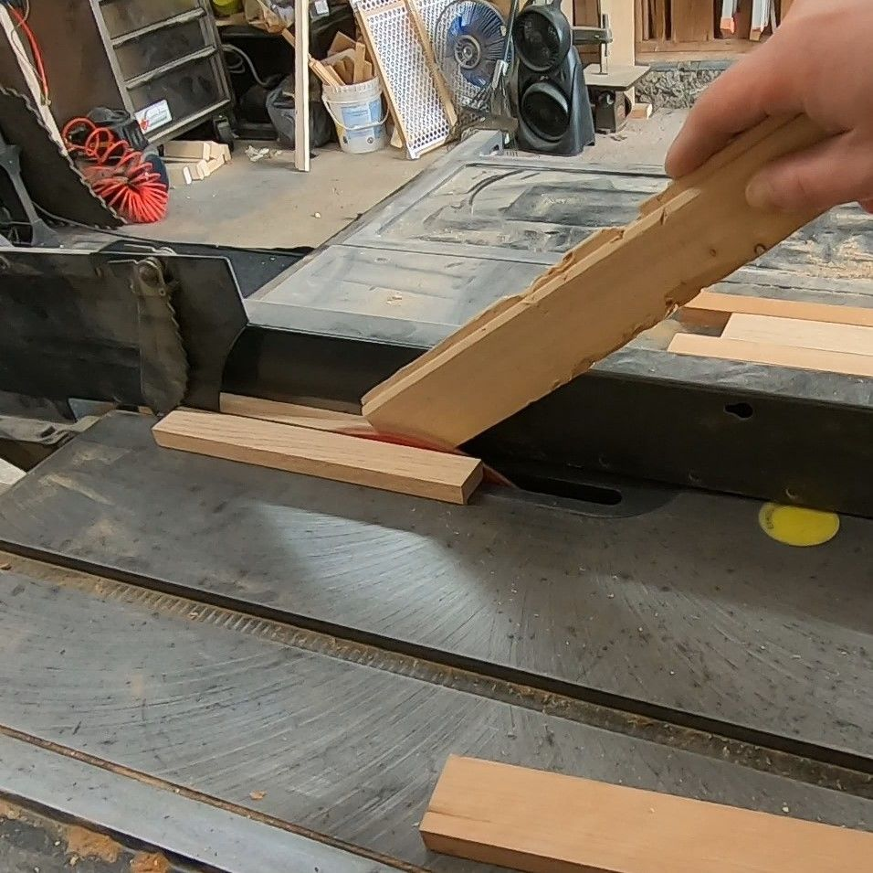 Picture of Cutting the Wood to the Correct Width