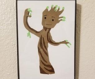 Paper Baby Groot