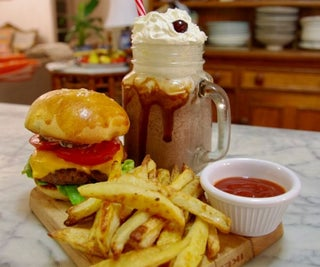 Diner Style Burger, Fries & Shake at Home
