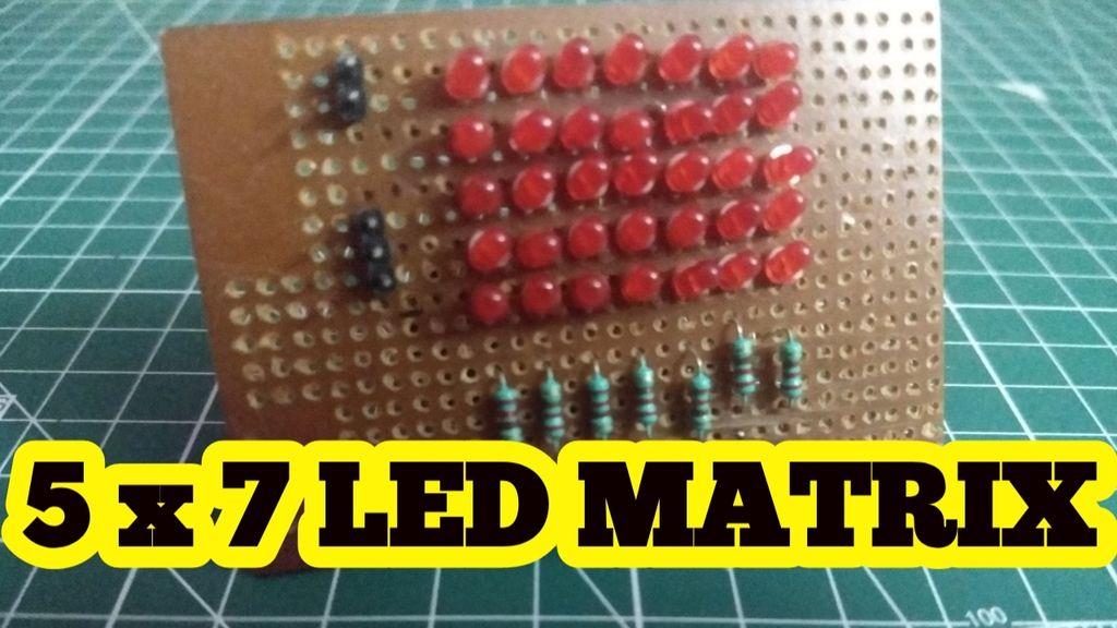 Picture of Led Matrix Using Arduino (5 X 7)