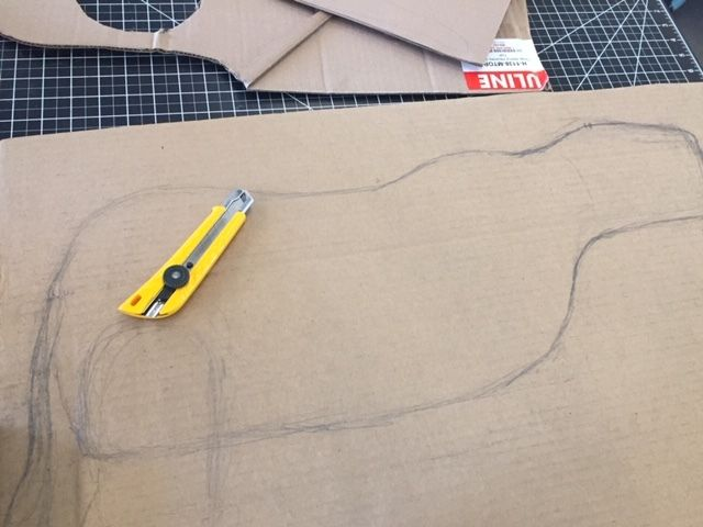 Picture of Now Cut Two Cardboard Spines for Animal