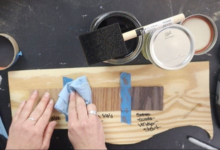 Test Stain on Your Wood