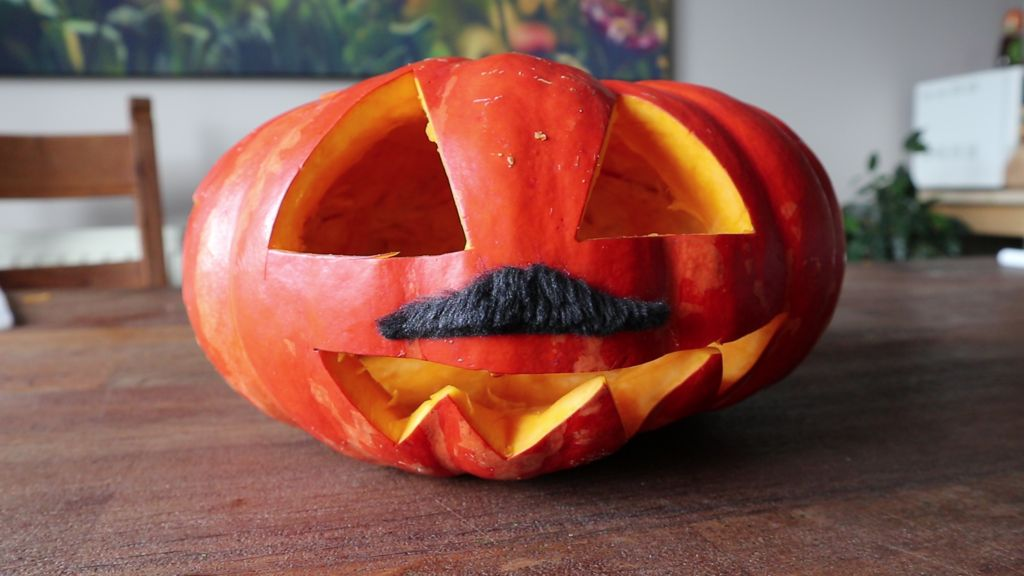 Picture of Jacques Pierre - the Internet Controlled Hacking Pumpkin
