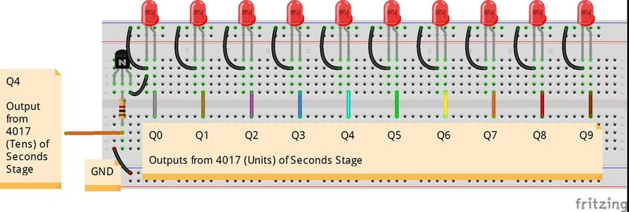 Stage 5: Seconds LEDs (00-59)