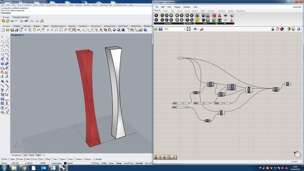 Picture of Parametric Design in Rhino+Gh3d