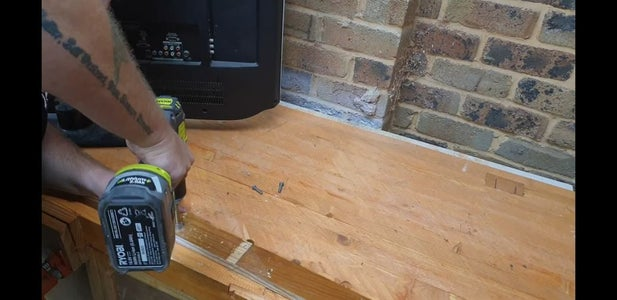 Drill Holes in Tv French Cleat
