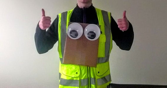 Amazin' Christmas Delivery Courier Outfit