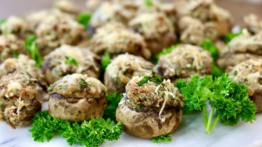 How to Make Parmesan Stuffed Mushrooms