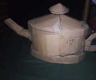MAKING a CARDBOARD ALADDIN SMOKED LAMP