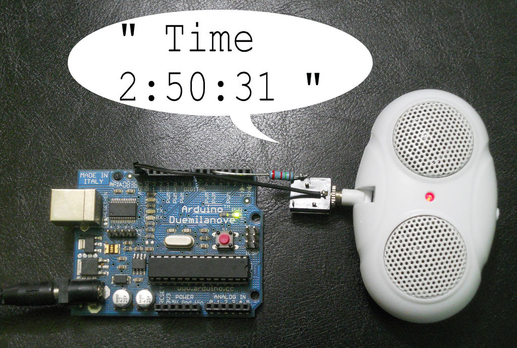 Picture of Talking Clock With Invisible Button