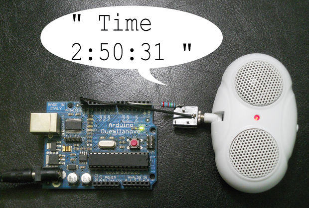 Talking Clock With Invisible Button