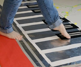 Use the Back of the Board to Create a Full Scale Floor Piano