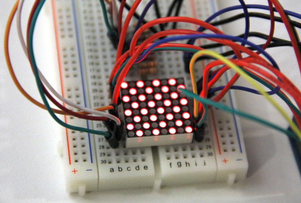 Picture of LED Matrix Multiplexing