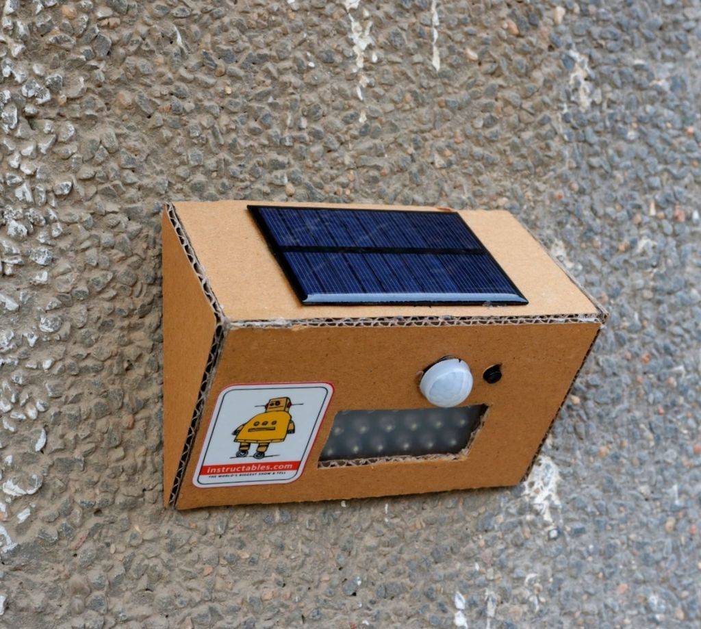 Picture of DIY Solar Motion Sensor Security Light