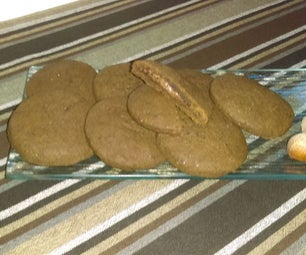 Tasty Carob Flour Gluten Free Cookies Nutella Filled
