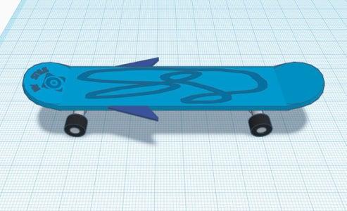 Personalized Winged Skateboard