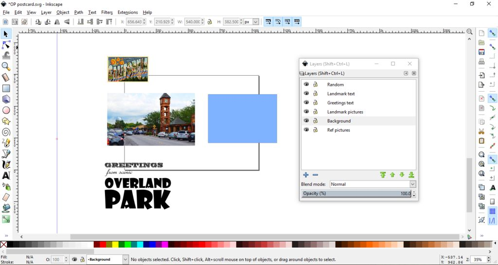 Picture of Organize Your Postcard Elements