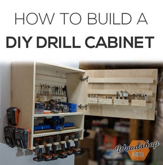 How To Make A Drill Charging Cabinet Diy Woodworking 10 Steps
