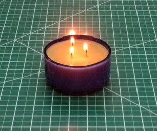 Make a Candle From a Glass Bottle
