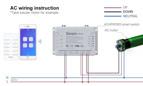 How to Connect 4CHPROR2 With the Blinds Motor?