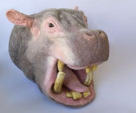 Felting a Hippopotamus