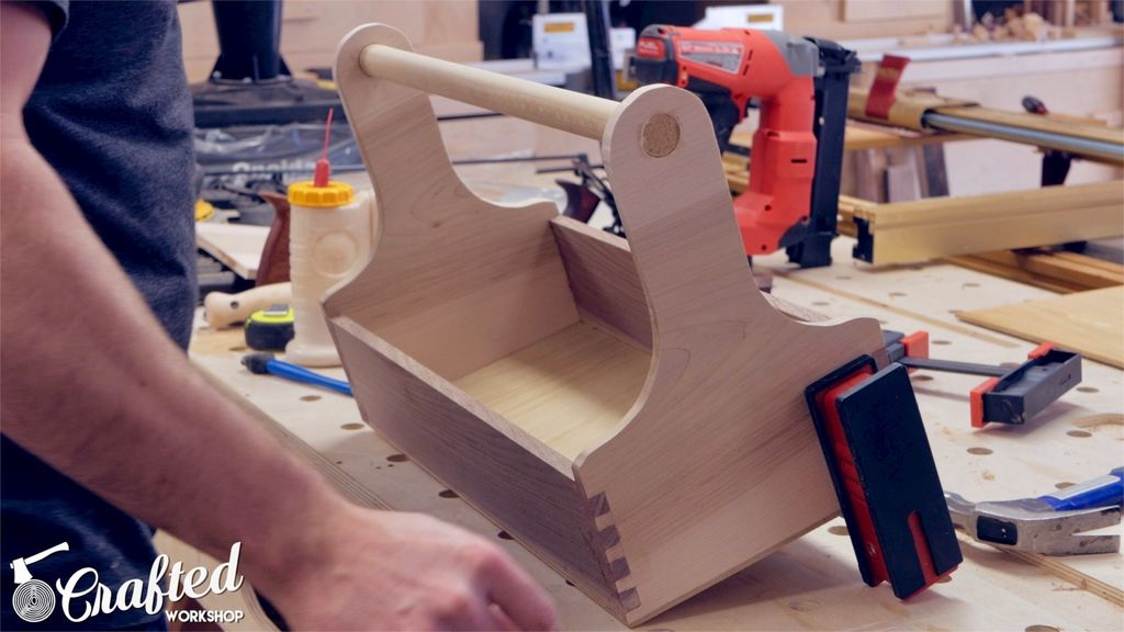Picture of Attach Plywood Bottom, Flush Up Edges & Attach Handle