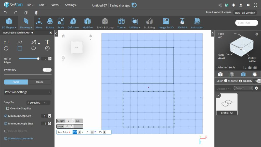Picture of 3D Sketch: Rectangle
