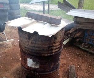 如何在44加仑的桶中制造生物炭/木炭
